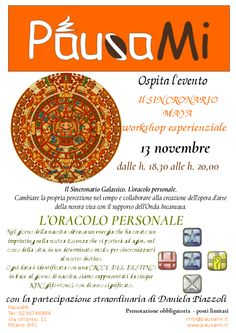 Il sincronario Maya. Scoprilo da PausaMi lunedì 13 novembre dalle 18,30 alle 20,00 in via Eugenio Villoresi 11 a Milano