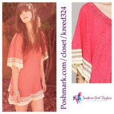 "ETERNAL SUNSHINE CREATIONS Tunic Petal Mini Dress Size XS/S. New with tags.  $248 Retail + Tax.   Cotton tunic with oversized butterfly sleeves.  Stripe hems. Crochet v neckline.   Measurements for XS/S: Length: 32"" Bust: 37"" Sleeve: 18""   ❗️ Please - no trades, PP, holds, or Modeling.    Bundle 2+ items for a 20% discount!    Stop by my closet for even more items from this brand!  ✔️ Items are priced to sell, however reasonable offers will be considered when submitted using the blue ""offer""…"