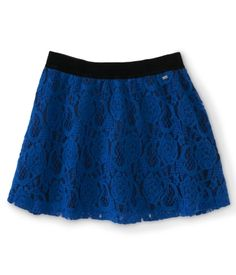 Lace Overlay Woven Skirt  I NEVER wear skirts, but I'm absolutely IN LOVE with lace, so I'd totally wear this!