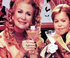 """Tabitha, a 300-year-old witch (who is also responsible for the sinking of the Titanic), and her friend, Timmy, a doll she brought to life. 