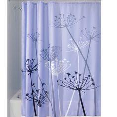 InterDesign Thistle Shower Curtain Color: Purple/Gray