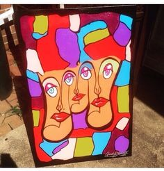 """Image of """"Eccentricity Abstract""""-24""""x 36"""" canvas(acrylic) ( all prices on artwork are negotiable )"""