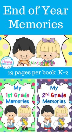 End of Year Memory Books - These super fun Memory Books were the hit of our last week of school activities.  First grade, second grade, and kindergarten students alike loved them.  You will too!