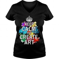 Awesome Painting Lovers Tee Shirts Gift for you or your family member and your friend:  Keep Calm and Create Art Tee Shirts T-Shirts