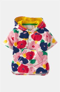 Mini Boden Terry Cloth Poncho (Infant) | Nordstrom Also similar to Grandmas towel poncho!