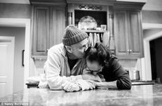 (4) Daughter's touching photographs chronicle her parents' joint battle with cancer: The couple share a quiet moment after a long day of treatment.