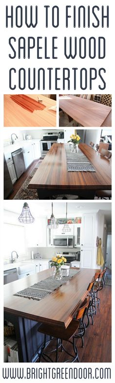 How to finish Sapele Wood Butcher Block Countertops
