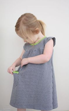 Play dress tutorial from CINO with pattern for 2T.  Done in knit.