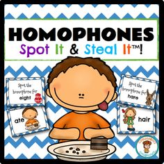 $ Homophones Spot It & Steal It! Learning language rules can be boring for students..if you're using worksheets that is. So ditch those worksheets and PLAY a GAME! Your students will love you for it!