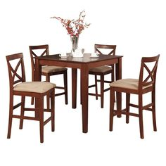 The dining set offers modern styling to complement any interior design perfect for a small dining-room. This set possesses excellent quality design with a touch of class to enhance compelling overall appeal to any dining area.