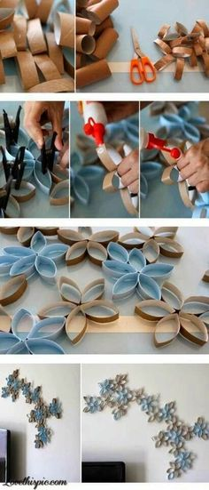 DIY Toilet Paper Rolls Wall Decor Pictures