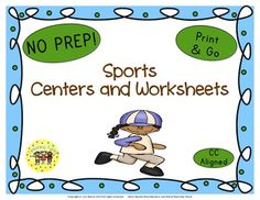 Sports Glyph Book List Art Project Writing Activity Websites Group Activity AND 9 thematic worksheets.
