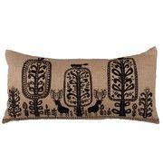 Niki Jones - Woodland Cushion - Natural and Black