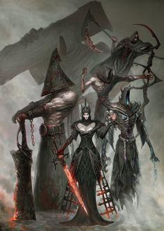 ArtStation - Legion of Z.L J - Characters: Fantasy - Fantasy Kunst, Dark Fantasy Art, Fantasy Artwork, Dark Art, Monster Concept Art, Monster Art, Dark Creatures, Mythical Creatures, Creature Concept Art