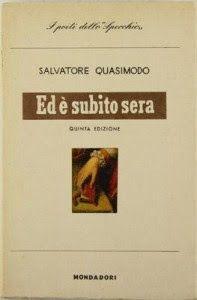Leggere Libri Fuori Dal Coro : ED E' SUBITO SERA Salvatore Quasimodo