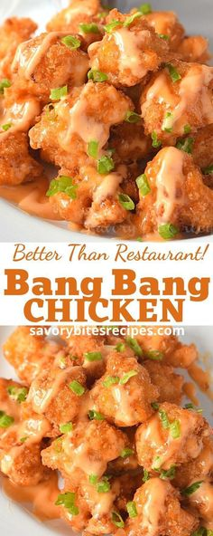 Nov 8, 2020 - This delicious Bang Bang Chicken in a creamy sweet and spicy sauce is easy to make, tastes like the restaurant version, and ready in less than 20 minutes.