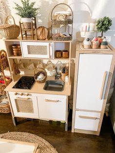 Ikea Kids Kitchen, Toddler Kitchen, Diy Play Kitchen, Toy Kitchen, Baby Playroom, Playroom Decor, Baby Room Decor, Kids Room Design, Furniture Makeover