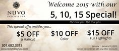 Have you scheduled your January appointment yet? You can't miss this savings. Up to $30 off!