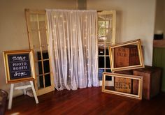 vintage door photobooth backdrop Photo Booth Backdrop, Photobooth Idea, Backdrops, Backdrop Ideas, Wedding Doors, Curtains, Modern, Vintage, Gardening