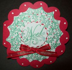 An Elegant Touch...  Scalloped Circle Card