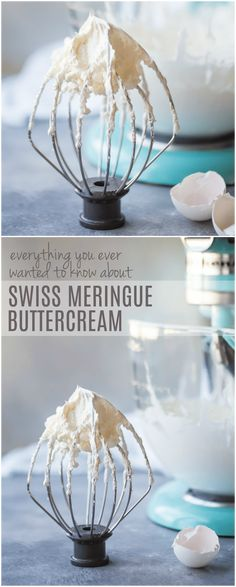 Swiss Meringue Buttercream Tips--Everything you've ever wanted to know about Swiss meringue buttercream: from how it's made and stored, to what to use it for, and how to flavor it in all sorts of ways. You'll love this light, silky frosting so much! Whipped Cream Buttercream, Meringue Frosting, Chocolate Buttercream Frosting, Buttercream Recipe, Frosting Recipes, Cupcake Recipes, Swiss Buttercream, Ganache Cake, Dessert Recipes