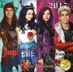 Mal Evie Jay and Carlos 2017 descendants 2 get ready you won't sea it coming