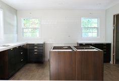 A Fresh Take on a Classic Tiled Backsplash - Chris Loves Julia Chris Loves Julia, Outdoor Furniture, Outdoor Decor, Backsplash, Home Kitchens, Building A House, Sink, New Homes, House Design