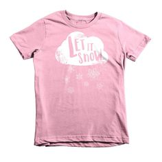 Let it Snow Short sleeve kids t-shirt