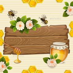 ▼ [NULLED]◒ Background With Bees,Honey, Flowers And Honeycomb Activity Animal Animals Background Banners Bee Honey Bee Drawing, Bumble Bee Birthday, Cartoon Bee, Page Borders Design, Powerpoint Template Free, Bee Cards, Envelope Art, Wreath Watercolor, Background Banner