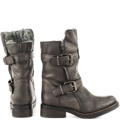 ❄️ DAY SALE! Steve Madden Gray Fur Booties Boots IT'S A SNOW DAY IN DENVER AND THAT MEANS A FINAL WINTER SALE! ❄️ 4.5 rating on SteveMadden.com!! Buckle up your boots, ladies! CAVEAT-F is constructed with durable leather with buckled straps for extra style. Wear these boots with some detailed tights, mini skirt and button down for a bohemian city-chic look. Leather upper Man-made lining Man-made sole 1 inch heel 10 inch shaft height 10.5 inch circumference Steve Madden Shoes Ankle Boots…