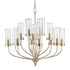 Hove Chandelier | Currey and Company at Lightology