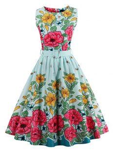 GET $50 NOW   Join RoseGal: Get YOUR $50 NOW!http://www.rosegal.com/vintage-dresses/vintage-floral-print-flare-dress-1106127.html?seid=8569013rg1106127