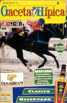 Portada de la publicación Gaceta Hípica, del 23 de mayo de 1994. (Tomado del libro La prensa venezolana en el siglo XX. Autor: Eleazar Díaz Rangel. Ediciones Fundación Neuman, 1994, p. 143)
