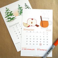The calendar is such a huge undertaking to design each year. I think I say this every year, but this year I am so proud of how it came out!  2013 Calendar by winifredStudios on Etsy, $24.00