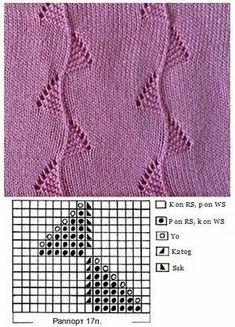 szydelko i idruty na Stylowi. Lace Knitting Stitches, Lace Knitting Patterns, Knitting Charts, Lace Patterns, Knitting Designs, Hand Knitting, Stitch Patterns, Knitting Needles, Google Translate