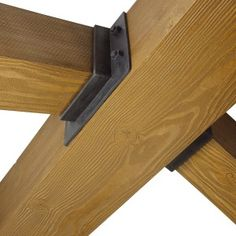 Decorative Metal Brackets for Wood Beams Collection Of solutions Decorative Joist Hangers Faux Wood Beams, Wood And Metal, Veranda Pergola, Gazebo, Beam Hangers, Ridge Beam, Timber Posts, Timber Structure, Timber Frame Homes