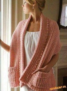 Crochet wrap, Camel stitch