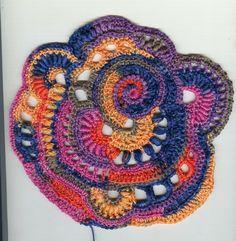Best 12 Freeform Crochet Scrumble Patterns – Freeform crochet is a way of making a series of motifs created – SkillOfKing. Crochet Leaf Patterns, Crochet Mandala, Freeform Crochet, Crochet Art, Irish Crochet, Crochet Motif, Easy Crochet, Crochet Stitches, Knitting Patterns