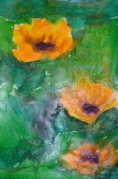 Tissue Paper Lily Pond- Monet