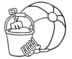 Simple Beach Coloring Page