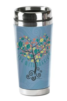 Passion - Christian Tumbler  Stainless rimmed coffee tumblers that hold your hot drink with style.  © 2015 Slingshot Publishing