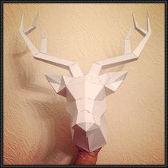 Simple Deer Head Free Papercraft Download - http://www.papercraftsquare.com/simple-deer-head-free-papercraft-download.html