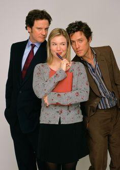 "Colin Firth,Renée Zellweger, Hugh Grant in ""Bridget Jones' Diary"", 2001 Bridget Jones Movies, Bridget Jones Baby, Love Movie, I Movie, Movie Stars, Hugh Grant, Renee Zellweger, Mr Darcy, Movie Posters"