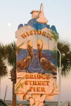 Historic Bradenton Beach Pier on Anna Maria Island.  This is a favorite spot on the Island for some simple, laid back relaxation.  Enjoy fishing, walks on the beach, ice cream on Main Street or shopping.
