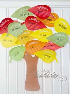 Free Thanksgiving Tree Printable [Thanksgiving Traditions] ~ Be Different...Act Normal