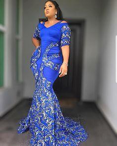 ng 🧚🧚🧚🧚🧚 Lace and Ankara dresses. from Diyanu - Ankara Dresses, Shirts & African Dresses For Women, African Print Dresses, African Attire, African Wear, African Fashion Dresses, Ankara Fashion, African Prints, Nigerian Fashion, Ghanaian Fashion