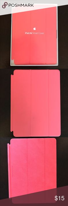 iPad Air Smart Cover Perfect condition except for two small marks on the front of the cover. Fun bright pink color! Apple Accessories Tablet Cases
