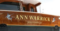 #TRANSOM: Ann Warrick, Midlothian Virginia #Boat #Transom #BoatTransom  TRANSOM #TECHNIQUE: #GoldLeaf #CustomGraphics    #BOAT #BUILDER #BoatBuilder: #PaulMannCustomBoats, #Mann'sHarbor, #NorthCarolina