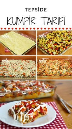 Baked Potatoes on Tray (with video) - Yummy Recipes,Practical Baked Potatoes on Tray (with video) - Yummy Recipes, Yummy Recipes, Dinner Recipes, Cooking Recipes, Yummy Food, Turkish Recipes, Ethnic Recipes, Wine Country Gift Baskets, Italian Chicken Recipes, Cheesy Garlic Bread