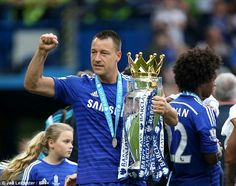 CHELSEA captain JOHN TERRY becomes just second outfield player to play every minute of Premier League title-winning campaign...